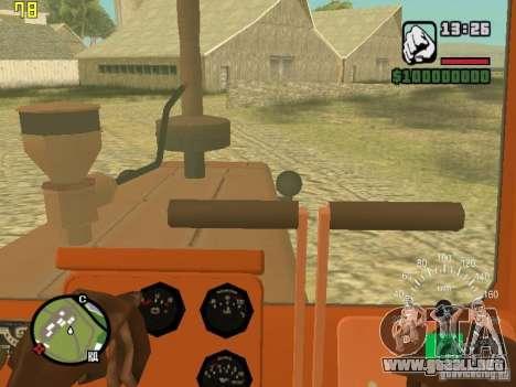 Tractor DT-75 cartero para visión interna GTA San Andreas