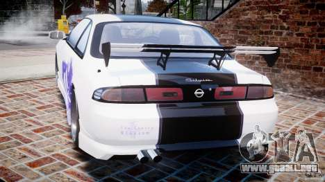 Nissan Silvia S14 [EPM] para GTA 4 Vista posterior izquierda