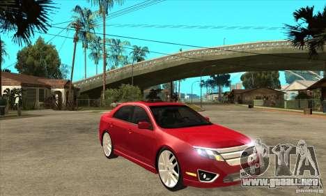 Ford Fusion Hybrid para GTA San Andreas vista hacia atrás