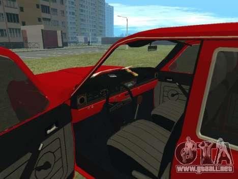 Volga GAZ-24 02 para GTA San Andreas vista hacia atrás
