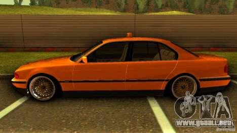 BMW 730i Taxi para GTA San Andreas left