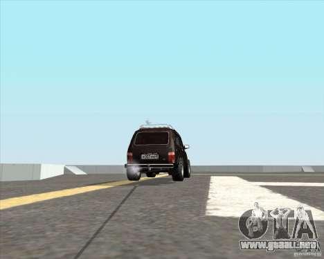 VAZ 21213 Offroad para GTA San Andreas vista posterior izquierda