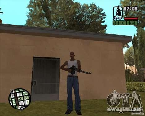 El RPK-74 para GTA San Andreas tercera pantalla