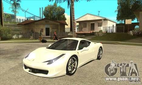 Ferrari 458 Italia 2010 v2.0 para GTA San Andreas