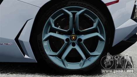 Lamborghini Aventador LP700-4 2012 v2.0 EPM para GTA 4 vista hacia atrás