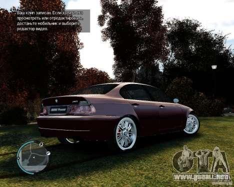 BMW 320i E46 v1.0 para GTA 4 Vista posterior izquierda
