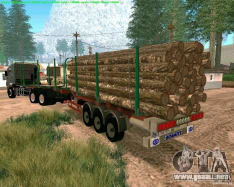 Trailer de Kamaz 65117 para GTA San Andreas left