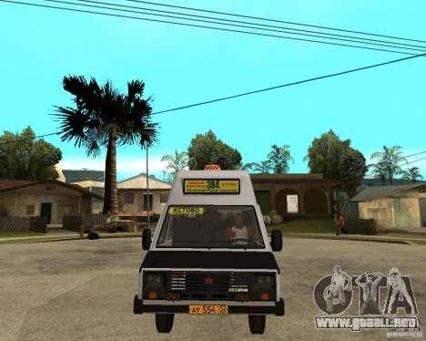 RAPH 22038 taxi para GTA San Andreas vista hacia atrás