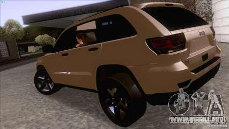 Jeep Grand Cherokee 2012 para la visión correcta GTA San Andreas