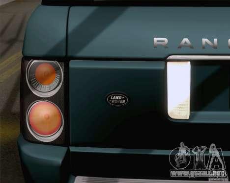 Land Rover Range Rover Supercharged 2008 para visión interna GTA San Andreas