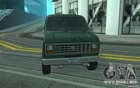 Ford E-150 Short Version v2 para GTA San Andreas left