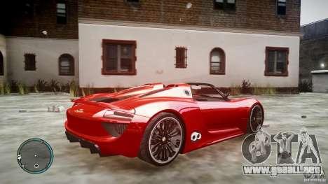 Porsche 918 Spyder Concept para GTA 4 left