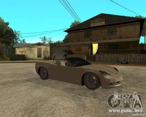 2005 Chevy Corvette C6 para la visión correcta GTA San Andreas
