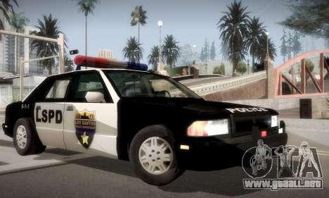New Police LS para GTA San Andreas vista posterior izquierda