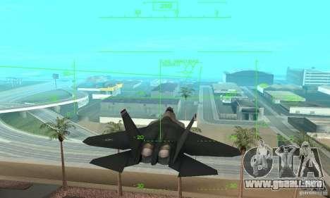 YF-22 Standart para visión interna GTA San Andreas