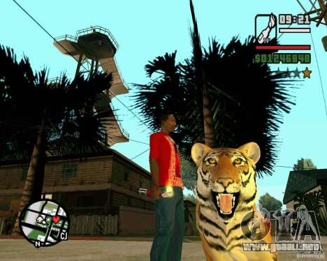 Tigre en GTA San Andreas para GTA San Andreas segunda pantalla