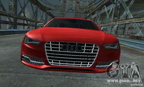 Audi A6 Avant Stanced para la visión correcta GTA San Andreas