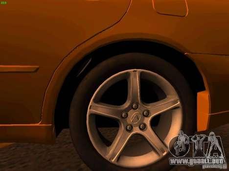 Lexus IS300 Taxi para la visión correcta GTA San Andreas