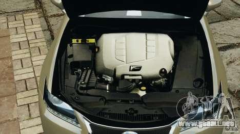 Lexus GS350 2013 v1.0 para GTA 4 vista desde abajo