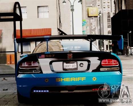 Dodge Viper SRT-10 ACR 2009 Police ELS para GTA 4 visión correcta
