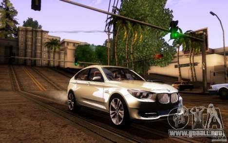 BMW 550i GranTurismo 2009 V1.0 para vista inferior GTA San Andreas