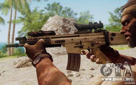 FN Scar L para GTA San Andreas sexta pantalla