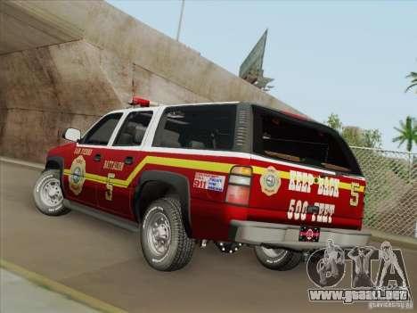 Chevrolet Suburban SFFD para el motor de GTA San Andreas