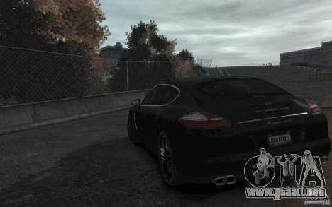 Porsche Panamera Turbo para GTA 4 Vista posterior izquierda