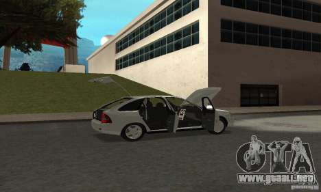 Lada Priora Hatchback para la vista superior GTA San Andreas