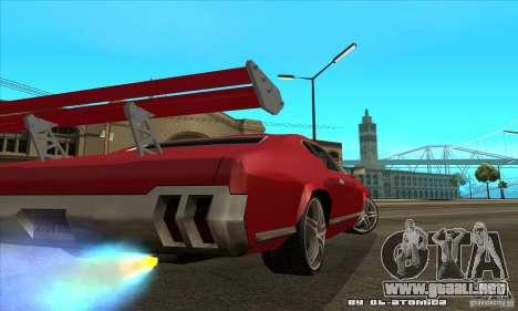 Sabre Drift para GTA San Andreas vista posterior izquierda