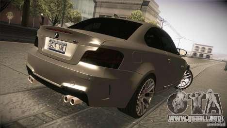 BMW 1M E82 Coupe 2011 V1.0 para la visión correcta GTA San Andreas