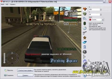 Editor de Huda para GTA San Andreas
