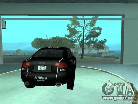 Audi RS4 para vista inferior GTA San Andreas