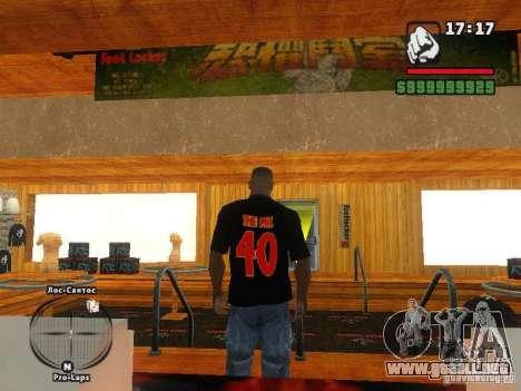 LA camiseta MIZ para GTA San Andreas segunda pantalla