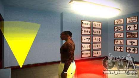 Tres nuevo tatuaje para GTA San Andreas sucesivamente de pantalla