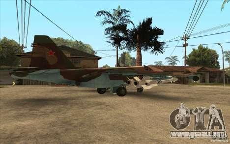 El Su-25 para GTA San Andreas vista posterior izquierda