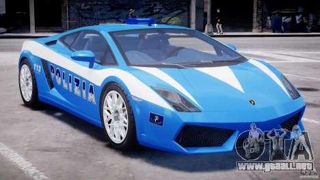 Lamborghini Gallardo LP560-4 Polizia para GTA 4 vista superior
