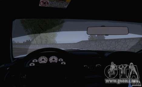 Ford Mustang SVT Cobra 2003 White wheels para GTA San Andreas vista hacia atrás