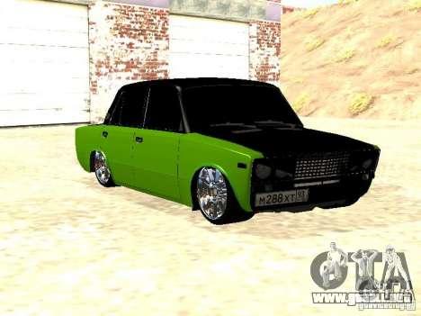 HUlK 2106 VAZ para GTA San Andreas vista posterior izquierda