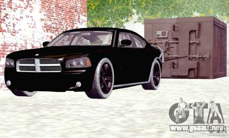 Dodge Charger Fast Five para GTA San Andreas vista posterior izquierda