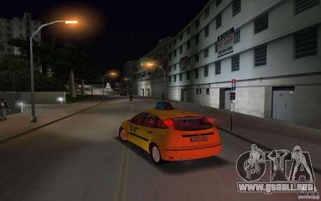 Ford Focus TAXI cab para GTA Vice City vista lateral izquierdo