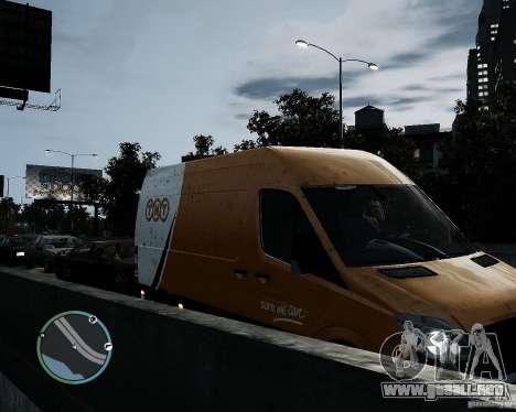 Mercedes-Benz Sprinter TNT para GTA 4 visión correcta