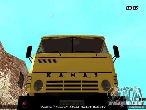 KAMAZ 53112 hormigonera para GTA San Andreas vista hacia atrás