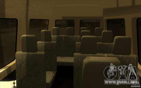 Mercedes Benz Sprinter 315 CDI para visión interna GTA San Andreas