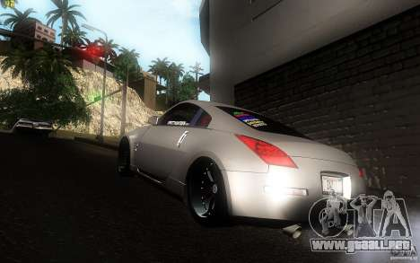 Nissan 350z Speedhunters para GTA San Andreas vista posterior izquierda
