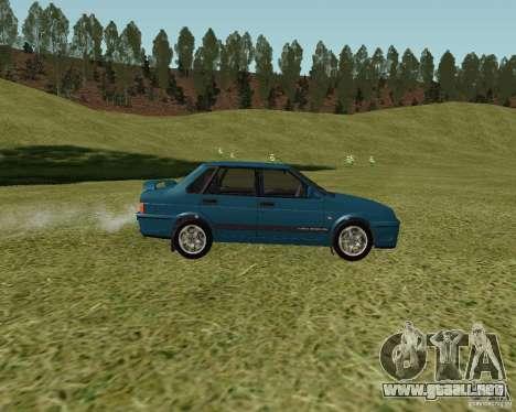 VAZ 21099 Suite para GTA San Andreas vista posterior izquierda