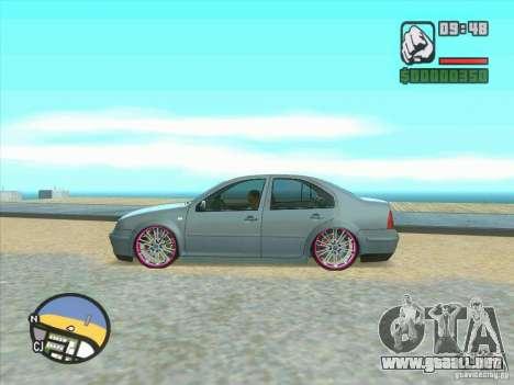 VW Bora Tuned para GTA San Andreas vista hacia atrás
