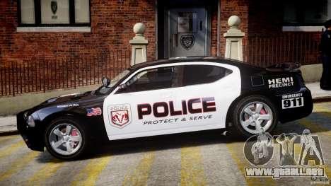 Dodge Charger NYPD Police v1.3 para GTA 4 Vista posterior izquierda
