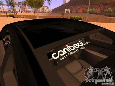 Infiniti G35 V.I.P para GTA San Andreas interior