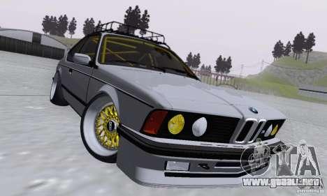 BMW M635CSi Stanced para visión interna GTA San Andreas